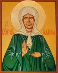 Икона Блаженной Матушки Матроны Московской